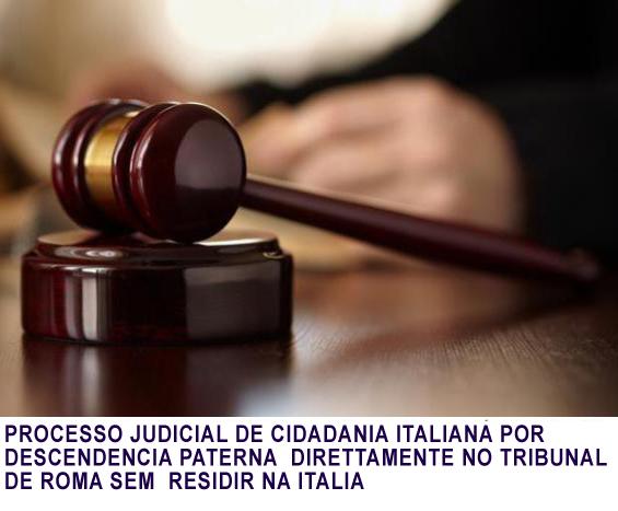 PROCEDIMENTO JUDICIAL POR DESCENDENCIA PATERNA